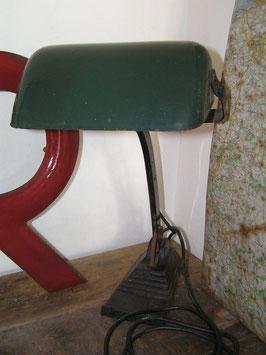 alte Schreibtischlampe Emaille Art Déco
