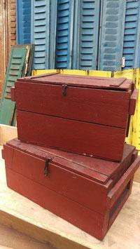 2er Set alte große Holzkisten sehr gut erhalten