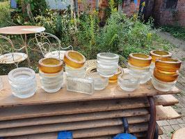 Schwere Glas Aschenbecher Böhmisches Glas Nr 0109sopo