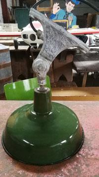 alte Industrie Wandlampe Emaille grün Nr 1603-02