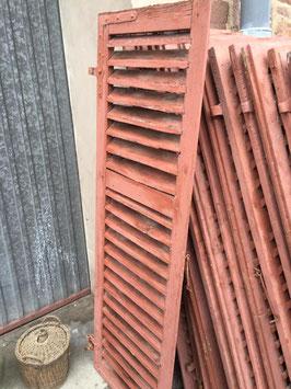 1 Paar alte Fenserläden Sprossenläden aus Holz Nr 2012