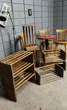 antike Borde aus einem Hutladen Holzborde 0810