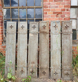 1 Paar alte Spindtüren Eisenläden Eisentüren Fensterläden genietet Nr 2807