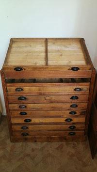 alter antiker Druckerei Schrank Stehpult Nr 2806