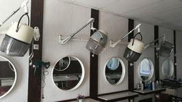 alte Vintage Spiegel Retro Friseurspiegel aus den 60er Jahren 60 cm