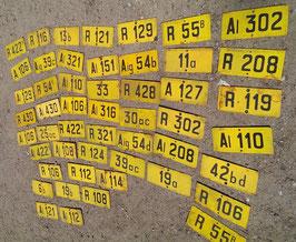 altes Emailleschild Nummernschild 0506