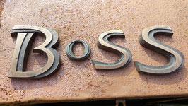 """alte kleine Metallbuchstaben  """"Boss"""""""