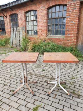 alter Eisentisch Metalltisch Gartentisch orange-rot 3108-02