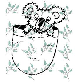 Plottdatei Koala im Beutel