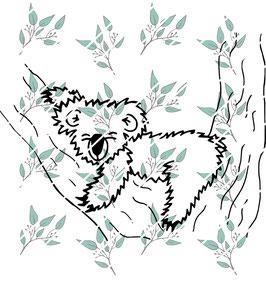 Plottdatei schlafender Koala