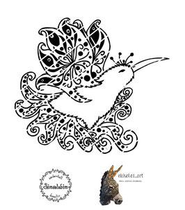 Plottdatei Kiwi (blanco und mit Muster)