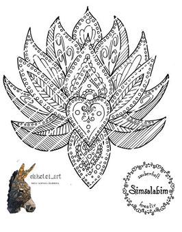 Plottdatei verzierte Lotusblüte