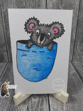 Digistamp Koala im Beutel