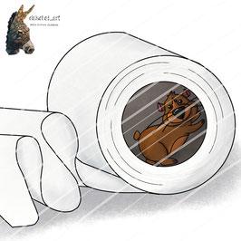 Hamster Harry völlig von der Rolle