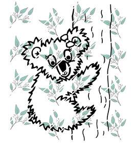 Plottdatei Koala Mädchen auf dem Baum