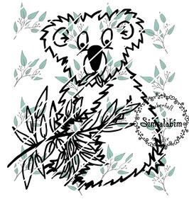 Plottdatei fressender Koala
