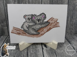 Digistamp Koala Mutter und Kind