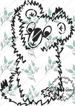 Plottdatei Koala Rücken