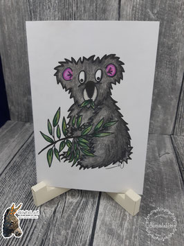 Digistamp fressender Koala
