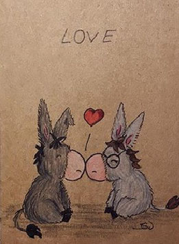 Esel Carlos schwer verliebt