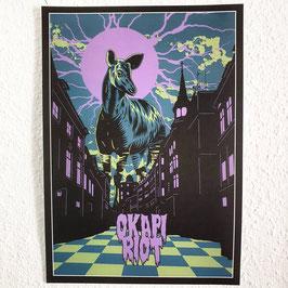 Okapi Riot Poster A3 - Naturpapier