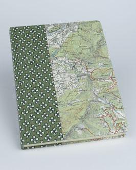 Notizbuch Bergauf grün
