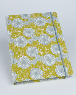 Notizbuch japanische Chrysanthemen ocker