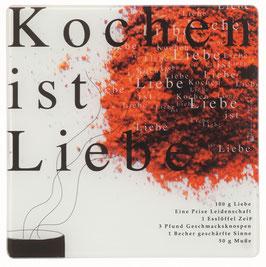 """Glasplatte """"Kochen ist Liebe"""" von Räder"""