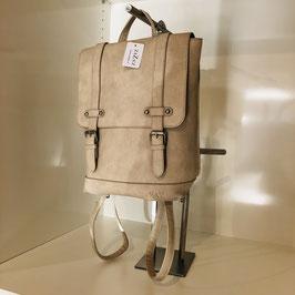 Rucksack mit 2 Riemen - beige/braun