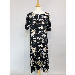 Schwarzes Masai-Kleid mit floralem Print Gr. S