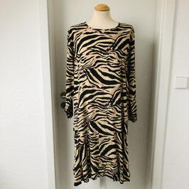 Beiges Masai Kleid mit Zebra Print