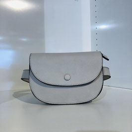 Bauchtasche/Gürteltasche grau aus veganem Leder