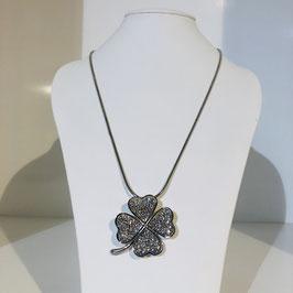 Halskette silber mit Kleeblatt-Anhänger