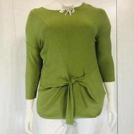 Apfelgrünes Shirt zum Binden vorne Größe XL/XXL