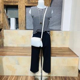 Culotte-Hose aus festem Material in Navi-Blau