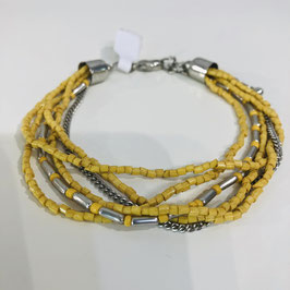 Gelb/Silbernes Armband