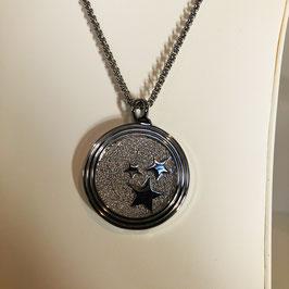 Silberne Designer Kette mit auswechselbarem Anhänger - Sterne