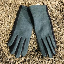 Petrol-schwarze Handschuhe