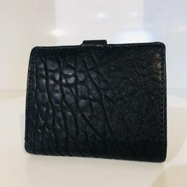 Schwarze VOI-Geldbörse aus genarbtem Leder