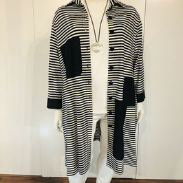 Dunkelblau-weiße Jacke von Vincenzo Allocca