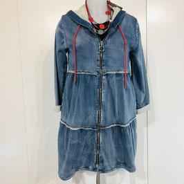 Jersey Sweatjacke in Jeans-Optik in Größe S/M