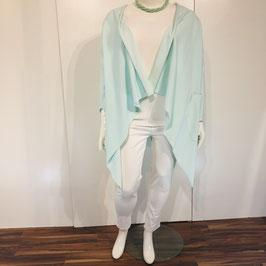 Mint-farbene Jersey Jacke aus festem Stoff - Größe XL-XXXL