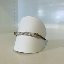 Armkettchen rosegold mit Strasstein-Element länglich / Länge verstellbar