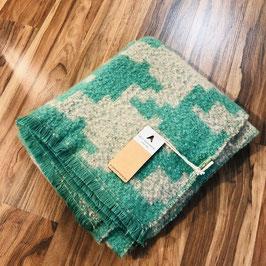 Beige-grüner Schal