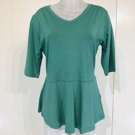 Masai Kurzarm-Shirt in Mint/Flaschengrün