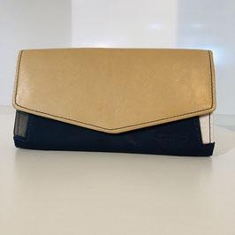 Geldbeutel der Marke Surkana / beige, schwarz-blau