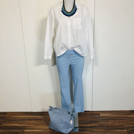 Pastellblaue Stehmann-Hose Größe 34