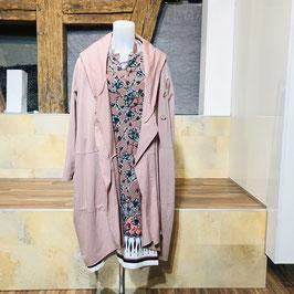Asymmetrische Jersey Jacke in 2 Farben: Grau und Rosa