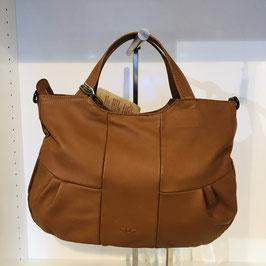 Cognac-braune Handtasche der Marke VOI aus Echtleder