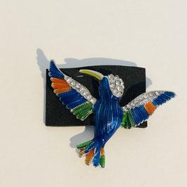 """Brosche """"Blauer Vogel"""""""